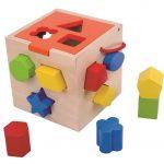 tooky toy wooden block sorter
