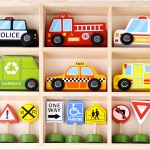 Tooky Toy Wooden Transportation and Street Sign Set
