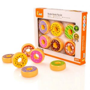 wooden donuts