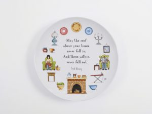 red tractor designs large ceramic plate safe and sound