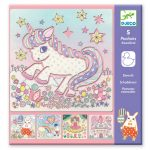 Djeco Unicorn Drawing Stencils