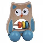 Wooden Wheelie Owl with Beads