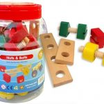 wooden nuts & bolts set