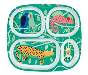 melamine jungle plate