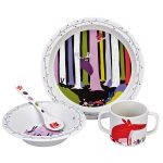 melamine 4 piece woodland gift set