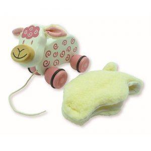 im toy pull along pet lambie