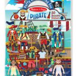 Melissa & Doug Reusable Puffy Stickers - Pirate