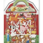 Melissa & Doug Reusable Puffy Stickers - Farm