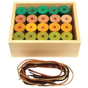 Threading Wooden Cotton Reels Set of 40