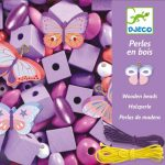 Djeco - Butterflies Wooden Beads