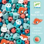 djeco wooden beads small animals