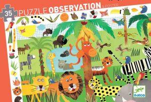 djeco observational puzzle jungle