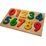 Q Toys Wooden Number Puzzle