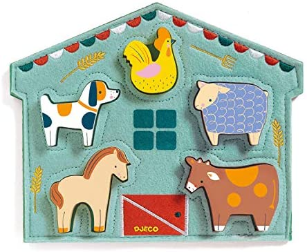 DJECO Mowy Wood and Felt Puzzle