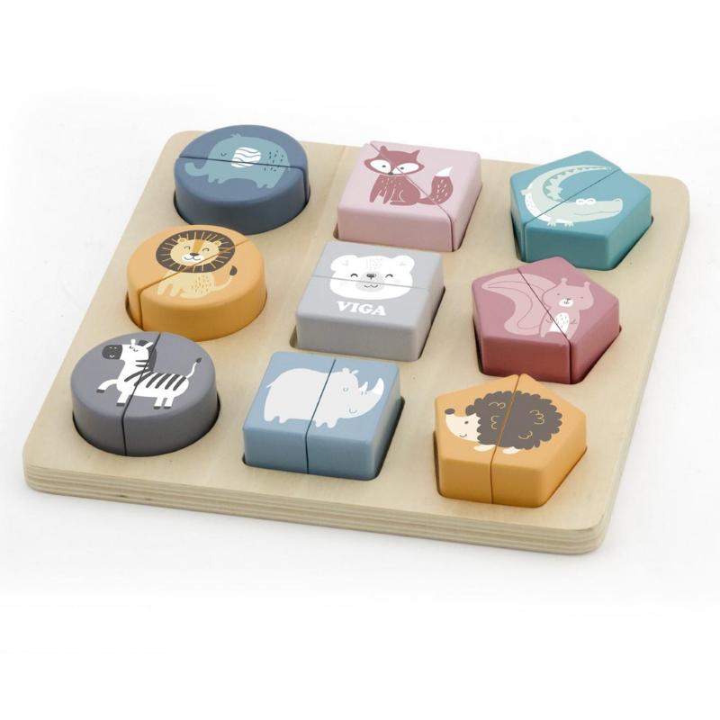 Viga Toys PolarB Shape Block Puzzle