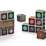Uncle Goose Planet Blocks - 9 Pce Wooden Block Set