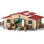 Schleich Horse Stable with horses and accessories