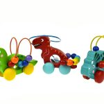 dinosaur bead maze with wheels