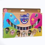 Little Brian Face Paint Sticks Classic 12 pk