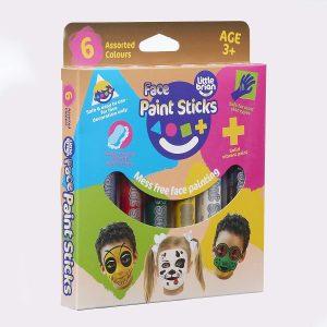 Little Brian Face Paint Sticks 6 Pack