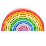 bigjigs large stacking wooden rainbow