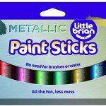 Little Brian Metallic Paint Sticks 12 Pack