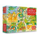 usborne book and jungle at the zoo