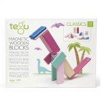 Tegu Magnetic Wooden Blocks Blossom 14 Pieces.